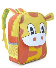 School Bag Animal Design Orange Yellow - 13 inches