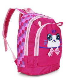 Checks School Bag Print Pink - 11.41 inches
