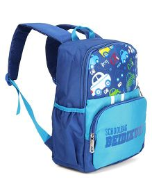 Vehicle Print School Bag Blue - Height 13 inches