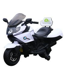 Deliababy Battery Operated Racing Ride On Bike - White