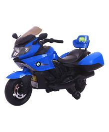 Deliababy Battery Operated Racing Ride On Bike - Blue