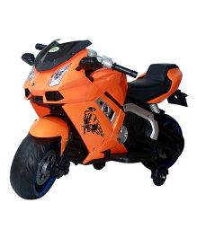 Deliababy Rechargeable Battery Operated Lamborghini Bike - Orange