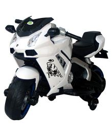Deliababy Rechargeable Battery Operated Lamborghini Bike - White