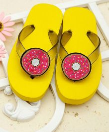 D'chica Just Too Cute Flip Flops - Yellow