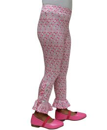 D'chica All Over Heart Print Leggings - Pink