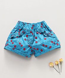 Olio Kids Shorts Floral Print - Blue