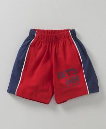Fido Shorts Let's Go Text Print - Red
