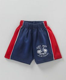 Fido Shorts Bicycle Print - Blue