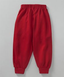 Fido Full Length Solid Colour Lounge Pant - Red