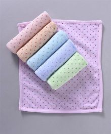 Simply Face Napkins Dots Print Set of 6 - Multi Color