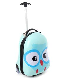 Baby Luggage Trolley Bag Penguin Print Green - 18.5 inches