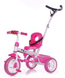 Toyhouse Simple & Heavy Duty Tricycle With Parent Push Handle - Pink