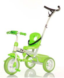 Toyhouse Simple & Heavy Duty Tricycle With Parent Push Handle - Green