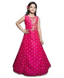Betty By Tiny Kingdom All Over Design Long Dress - Pink