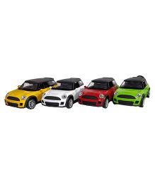 Emob Mini Cooper Model Cars With Light & Sound Pack of 4 - Multi Color