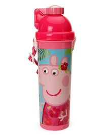 Peppa Pig Sleek Water Bottle With Pop Up Straw Pink - 750 ml