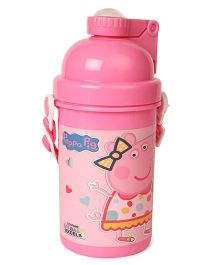 Peppa Pig Just Have Fun Water Bottle With Pop Up Straw Pink - 500 ml