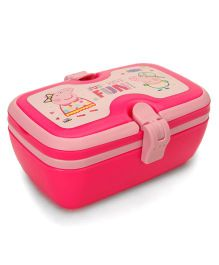 Peppa Pig Just Have Fun Lunch Box With Spoon & Fork - Pink