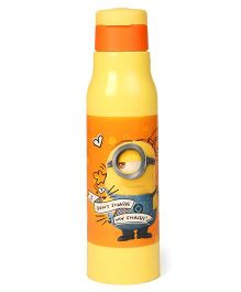 Minions Sipper Bottle With Flip Open Lid Yellow Orange - 500 ml