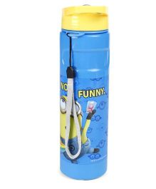 Minions Flip Open Sipper With Straw Blue Yellow - 500 ml