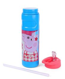 Peppa Pig Flip Open Sipper With Straw Blue Pink - 500 ml