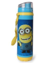 Minions Sleek Sipper Water Bottle With Flip Open Lid Blue - 700 ml