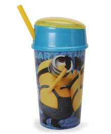 Minions Tumbler With Straw Yellow & Blue - 400 ml