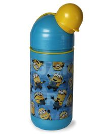 Minions Rule Capsule Shape Water Bottle Blue - 400 ml