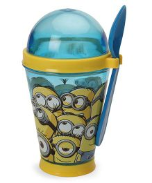Minions Tumbler With Spoon Blue - 355 ml