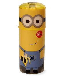 Minion Character Sipper Bottle With Flip Open Lid Yellow - 350 ml