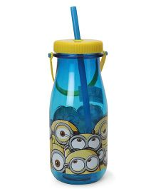 Minions Rule Sipper With Straw Blue - 370 ml