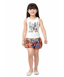 Tiny Baby Printed Shorts & Top Set - Red
