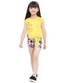 Tiny Baby Floral Print Shorts & Top Set - Yellow