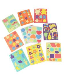 Funjoy Kraft World Self Adhesive Foam Stickers Multicolor - Pack of 10