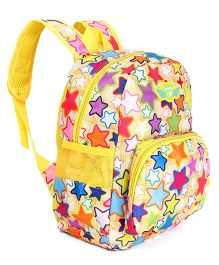 School Bag Star Print Yellow - Height 12.5 inches