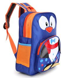 School Bag Blue & Orange - 12.5 inches