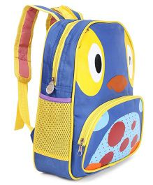 Animal Printed School Bag Blue Yellow - 12 Inches