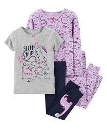 Carter's4-Piece Snug Fit Cotton PJs - Purple