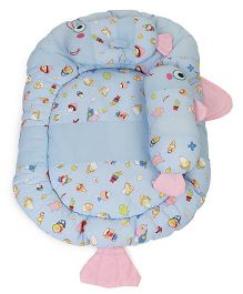 Montaly Fish Shaped Baby Bedding Set - Aqua Blue