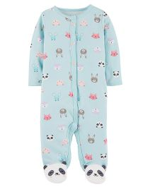 Carter's Panda Snap-Up Cotton Sleep & Play - Blue