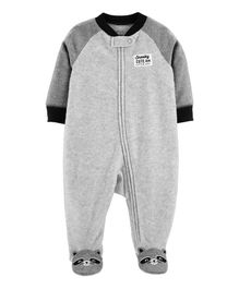 Carter's Raccoon Zip-Up Fleece Sleep & Play - Grey