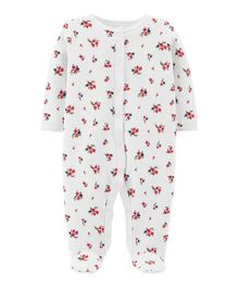 Carter's Floral Snap-Up Thermal Sleep & Play - Ivory