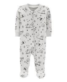 Carter's Landscape Snap-Up Thermal Sleep & Play - Grey