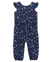 Carter's Bird Flutter-Sleeve Jumpsuit - Navy Blue