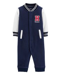 Carter's Handsome Fleece Romper - Navy Blue