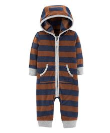 Carter's Bear Hooded Fleece Romper - Brown