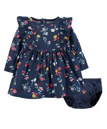 Carter's Floral Jersey Dress With Bloomer - Navy Blue