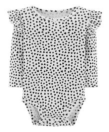 Carter's Heart Flutter Bodysuit - Ivory Black