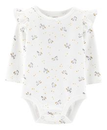 Carter's Full Sleeves Unicorn Bodysuit - Ivory
