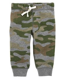 Carter's Full Length Lounge Pants Camouflage Print - Green
